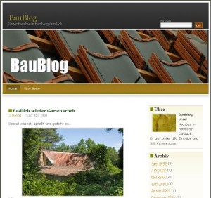 Das BauBlog unter WordPress